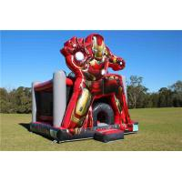 Buy cheap Waterproof 0.55mm PVC Inflatable Iron Man Jumping Castle 5 x 4 x 5m Customized from wholesalers