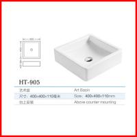 chaozhou ceramic square shape table top wash basin toilet for sale