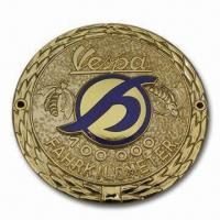 Buy cheap Hard-fired Cloisonne Car Emblem with Copper Stamped Finish, Available in Various Sizes from wholesalers