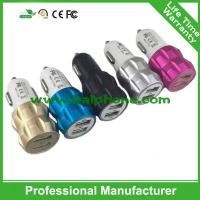 New model aluminium alloy cover dual USB car auto charger two USB output 2.1A metal