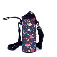 Wholesale Wholesale Custom Neoprene Water Bottle Holder With Adjustable Shoulder Strap. size:18cmc*6.8cm  Material is neoprene from china suppliers