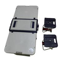 Buy cheap Factory price wholesale camping folding plastic picnic rolling table cooler box with table chairs from wholesalers