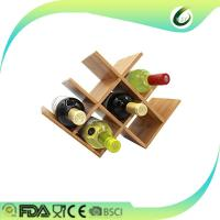 Buy cheap Fun shaped bamboo folding wine rack wholesale from wholesalers