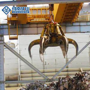 China 3p Garage Bridge Crane , 100 Ton Overhead Crane Equipment With Grab Ce Certificate on sale
