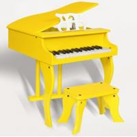 Wholesale 30 Key Yellow Grand Toy wooden piano Kid toy mini piano FW30 from china suppliers