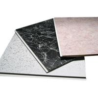 Buy cheap Waterproof Strip PVC Ceiling Panels For Residential , Suspended Ceiling Panels from wholesalers
