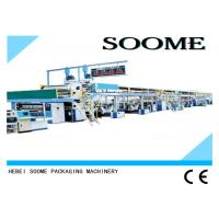 Buy cheap Glue Application Corrugated Cardboard Production Line Lubricated By High Temperature from wholesalers