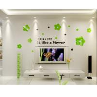 Buy cheap Kids bedroom decoration wall sticker acrylic removable decal flower from wholesalers