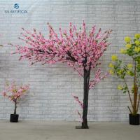 Buy cheap Plastic Flower Artificial Peach Blossom Tree Bridal Wedding Decoration Easy To Clean from wholesalers