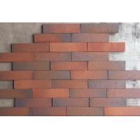 Outdoor Decorative Thin Clay Bricks Extruded / Sintered For Building Facade Manufactures