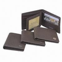 Wholesale Men's Leather Wallets, Measures 10 x 9 x 2.5cm, OEM Orders Welcomed from china suppliers