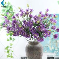Wholesale Eustoma Artificial Flower Bouquet Romantic Style For Restaurant Table Ornament from china suppliers
