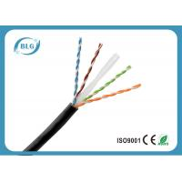 Single PE Cat6 Network Ethernet Cable / 8 Core Copper Cat6 UTP Network Cable Black