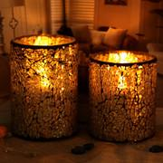 Buy cheap Sparkling Crystal Handcraft Home Decorative Mosaic Glass Candle Jars from wholesalers