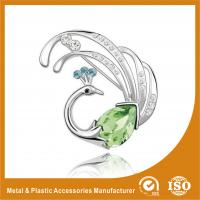 Buy cheap Customized Handmade Metal Brooches Crystal Peacock Brooches Jewellery from wholesalers