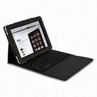 Buy cheap Leather Case with Bluetooth Keyboard for Apple's iPad, Available in Black from wholesalers