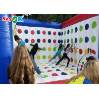 Buy cheap Blue And White  Inflatable Sports Games / Advertising 3D Inflatable Twister Mattress from wholesalers