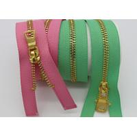 Buy cheap Colorful Women Brass Metal Dress Zips Length Customized For Garments / Wallet from wholesalers