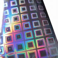 Buy cheap Hologram Film, Made of BOPP/PET, 12 to 50micron Thickness, Below 1000mm Width, Used for Packing/Gift from wholesalers