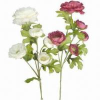Buy cheap Artificial peony flowers, with plastic stems from wholesalers