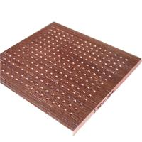 Buy cheap MDF Material Polyester Fiber Board Hotel Wooden Perforated Acoustic Ceiling Panel from wholesalers