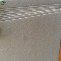 Buy cheap Promotional price waste paper grey paper board for notebook covers from wholesalers