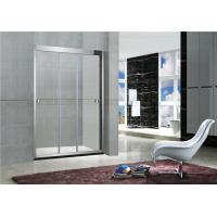 Buy cheap 8MM / 10MM Stainless Steel Frameless Sliding Shower Doors With Artificial Stone Tray from wholesalers