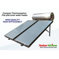Wholesale residential solar hot water heater with thermosyphon pressurized water tank from china suppliers