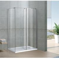 Buy cheap Rectangle Walk In Shower Enclosures 6 / 8 MM Clear Tempered Fixed Glass CE / SGCC Certification from wholesalers
