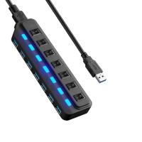7 port USB 3.0 HUB and every port with both sharing switch and LED Manufactures