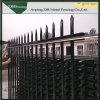 Buy cheap Security Decorative Wrought Iron Fence Hot Dipped Galvanized Corrosion Resistance from wholesalers