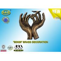 No. BD029 Brass hands tombstone decoration bronze funeral accessories size 17.5*10 cm  copper alloy Manufactures
