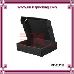 Buy cheap Black corrugated shoe box, apparel garment cardboard paper box ME-CU011 from wholesalers