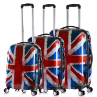 "Wholesale 210D Polyester 24"" TSA Lock Printing ABS PC Trolley Luggage from china suppliers"