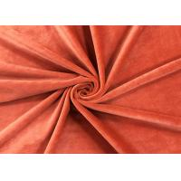 Buy cheap 205GSM Soft Plush Toy Fabric Brick Red 100 Percent Polyester Material from wholesalers