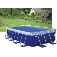 Buy cheap Blue PVC Steel Frame Metal Frame Pool , Easy Set Up Swimming Pool With Accessories from wholesalers