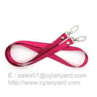 Buy cheap Double ended clip badge lanyard with rivet, rivet lanyard with two end hook, from wholesalers