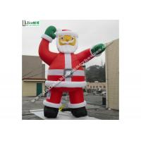 Buy cheap Big Eco - Friendly Inflatable Outdoor Santa Claus Sewing 5m High from wholesalers