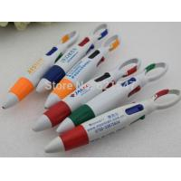 Buy cheap free customer logo Four-color ball-point pen Mountaineering buckle ballpen from wholesalers