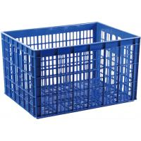 Buy cheap Solid HDPE Plastic Storage Crate Supermarket Ventilated Mesh Type from wholesalers