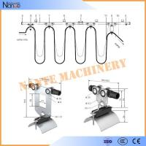 Monorail C Rail Festoon System Festoon Cable Trolley For Crane / Hoist Manufactures