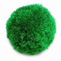 Wholesale Pom-pom/Wool Ball, Available in 75 and 100mm Diameters, with 6 Bright Colors from china suppliers