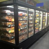 Frozen Food Commercial Glass Door Refrigerator -20°C 5 Layers For Supermarket Manufactures