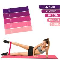 China Body Exercise Fitness Rubber Bands Custom Printed Workout Elastic Resistance Bands on sale