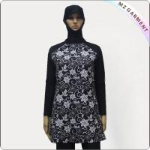 Buy cheap Purple Print Black Long Sleeve Muslim Swimwear from wholesalers
