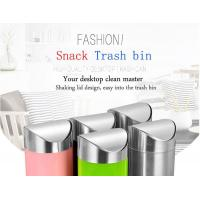 Buy cheap Mini Desktop Snack Trash Bin With Lid For Home and Car from wholesalers