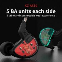 Buy cheap Dynamic Units KZ AS10 5BA HiFi Stereo in-Ear Earphone High Resolution Earbud Headphone Cable from wholesalers