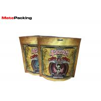Buy cheap Matt Finish Printing Plastic Tobacco Pouch Moisture Proof Ziplock Stand Up from wholesalers