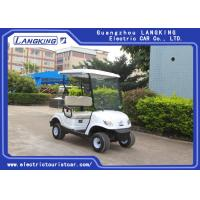 Buy cheap 2 Person Mini Electric Golf Carts With Light / Motorised Golf Buggy With Cargo Box from wholesalers