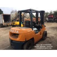 Buy cheap 3 Mast Used Diesel Forklift Truck 7FD40 SGS Approved With Middle Cylinder from wholesalers